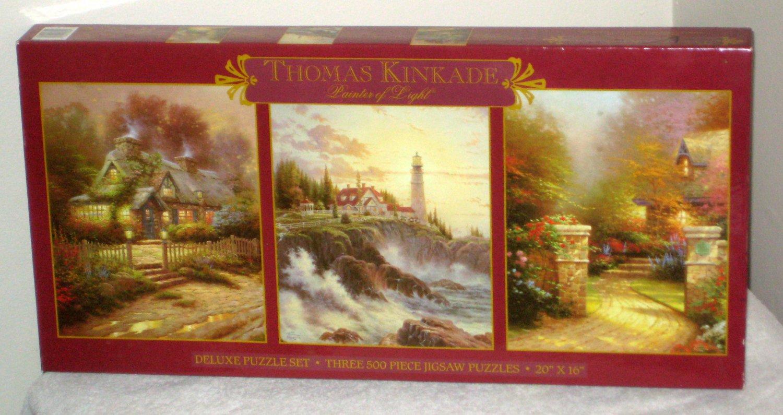 Thomas Kinkade Christmas Puzzles