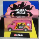 Charlie's Angels 1:36 Scale Die-Cast Pink Van Corgi CC87501 Farrah Fawcett Jaclyn Smith NIB 2001