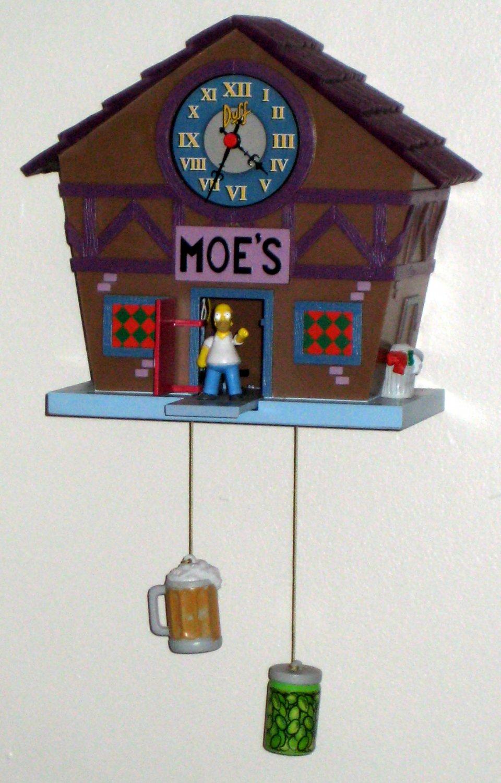 Sold The Simpsons Moe S Tavern Bar Cuckoo Wall Clock Homer