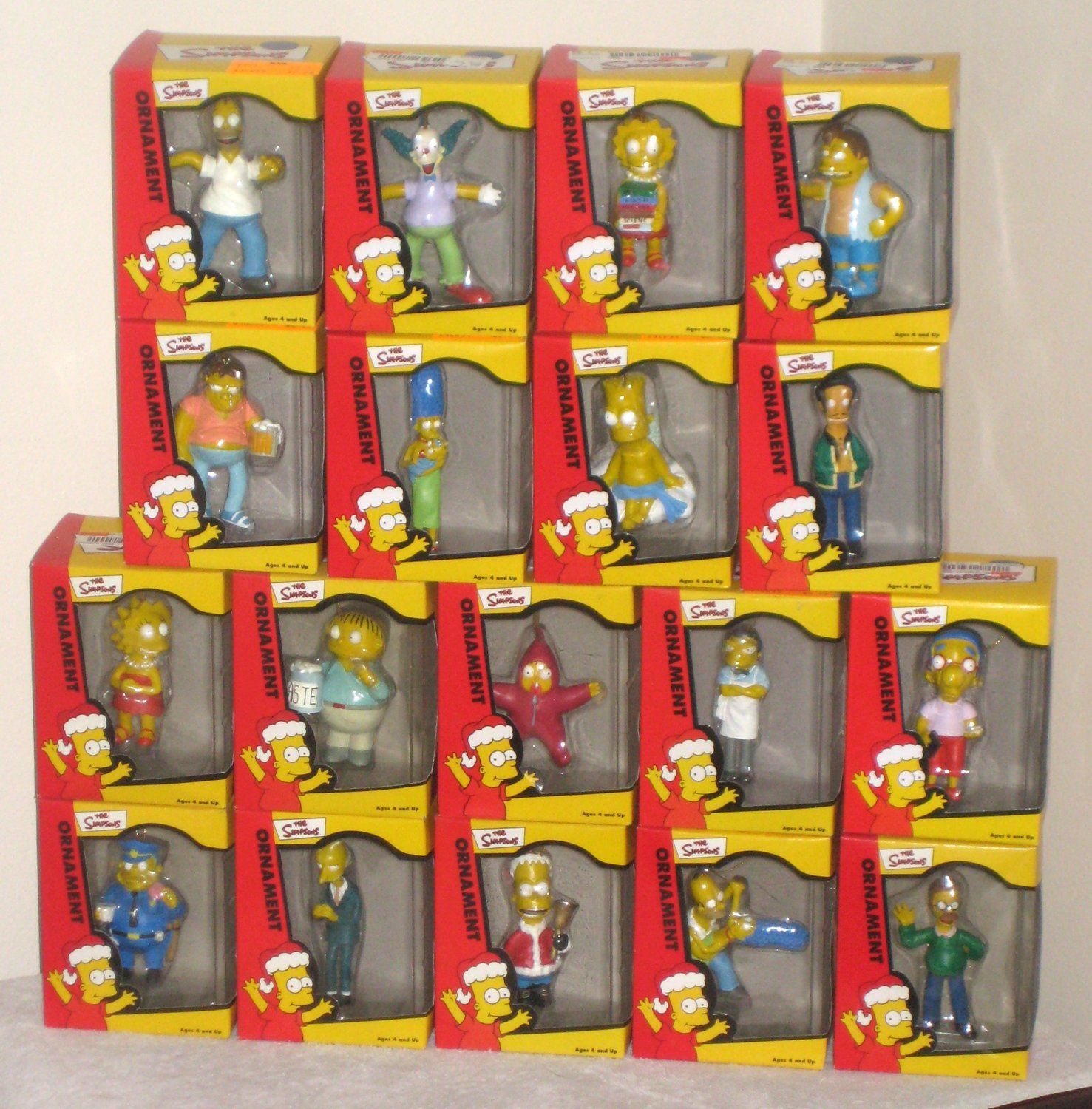 Simpsons Christmas Ornaments with Store Display Homer Nelson Burns ...