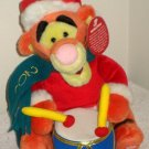 Tigger Singing Holiday Plush Playing Drum Battery Operated Christmas Winnie the Pooh Disney 2001