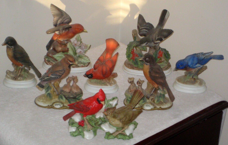 Sold Ceramic Bird Figurines Figures Homco Lefton Andrea