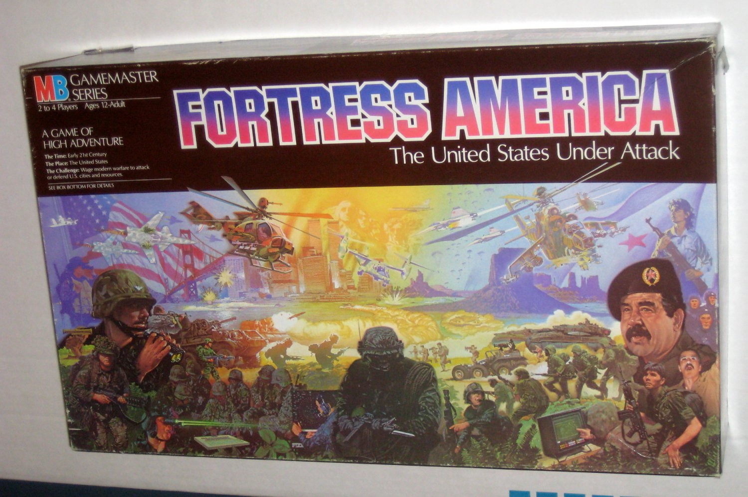 SOLD OUT Fortress America Board Game Early 21st Century United States Under Attack Gamemaster 4624