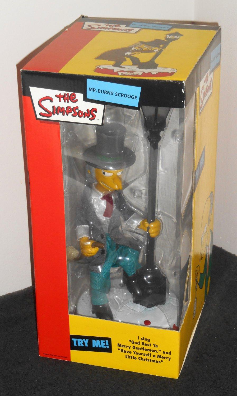 The Simpsons Mr Burns Scrooge Figure Animated Singing Talking Monty Gemmy NIB 2003 Electronic