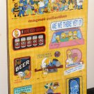 The Simpsons Magnet Collection Hot Properties Homer Krusty Barney Duff Ralph Donuts D'oh NIP