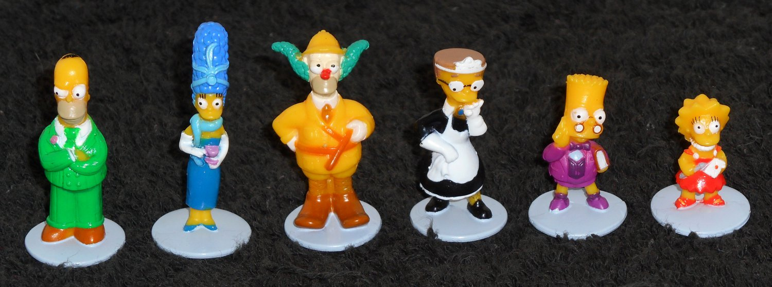 Simpsons Clue Game Parts 2nd Edition Movers Playing Pieces Figures Homer Marge Bart Krusty Smithers