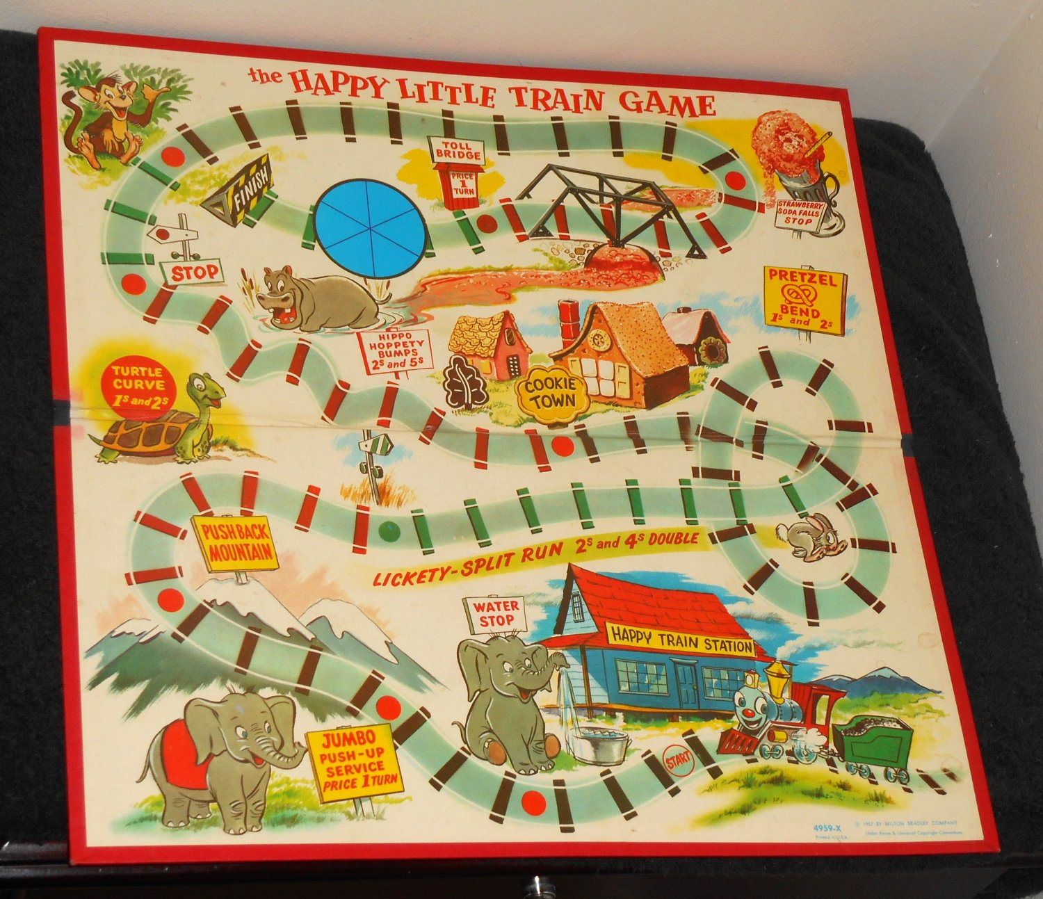 Vintage Happy Little Train Game Board 1957 Replacement Mb