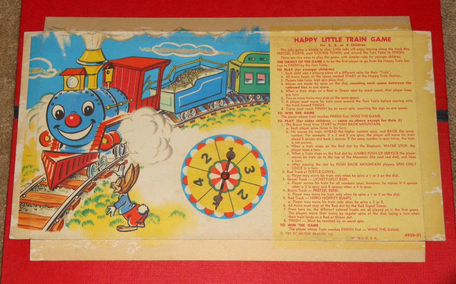 Happy Little Train Board Game Box Insert With Spinner