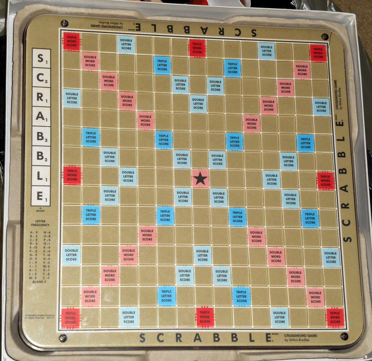 Sold Out 1989 Scrabble Deluxe Edition Turntable Rotating