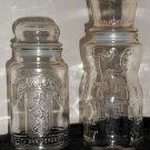 1981 1991 Planters Mr Peanut Glass Jar Lot Mister 75th Birthday Anniversary Candy Treat