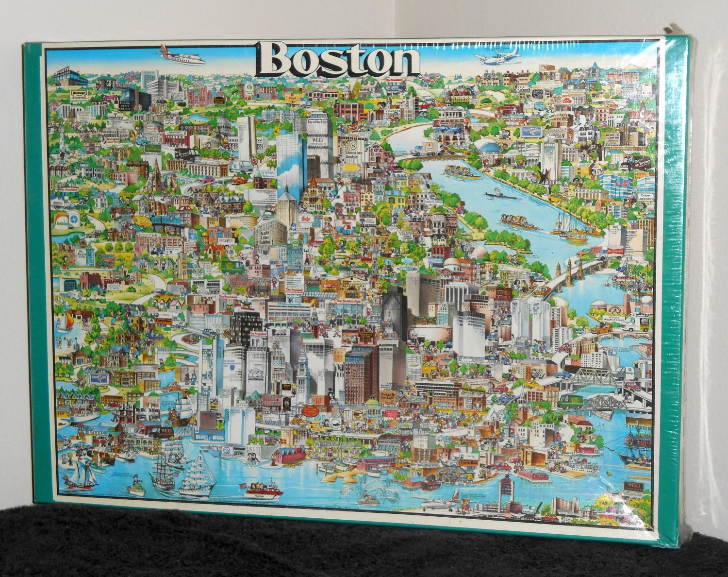 Boston Jigsaw Puzzles Character 504 Pieces Buffalo Games 1000 Historic Waterfront North End