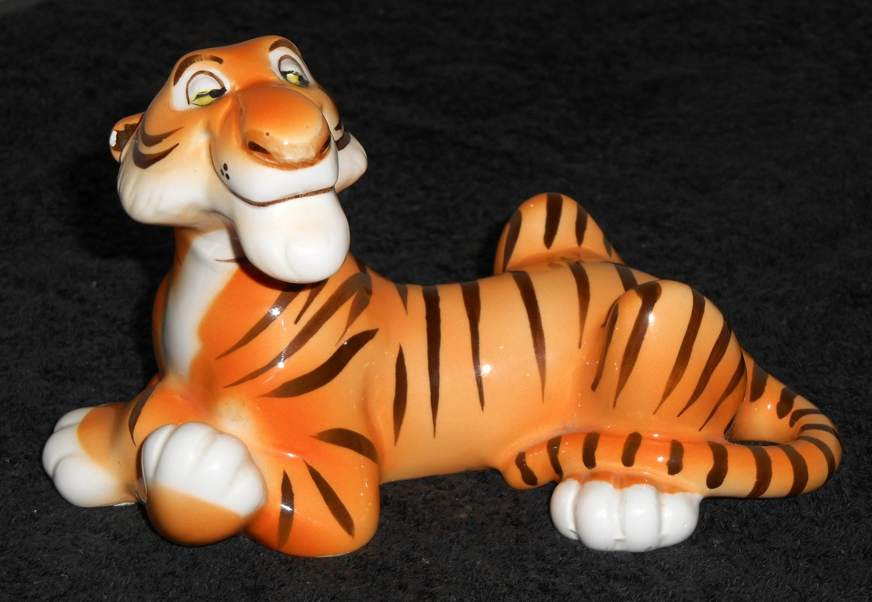 Ceramic Shere Khan Tiger Figurine Figure Sher Jungle Book Walt Disney