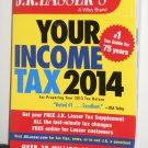 J.K. Lasser's Your Income Tax Guide 2014 Softcover Book Soft Cover Paperback Paper Back