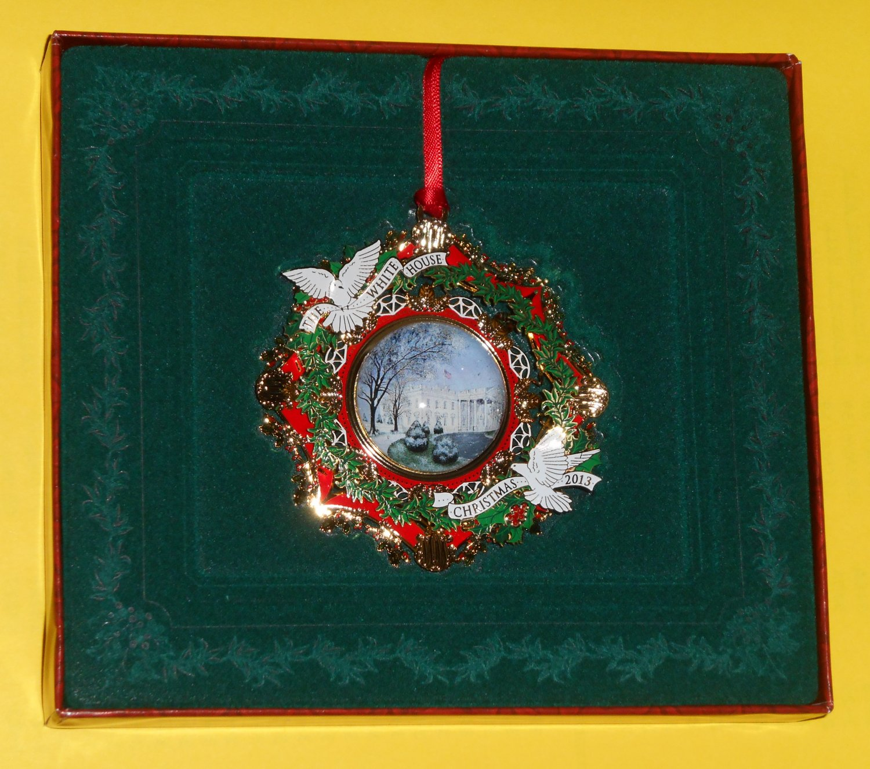 2013 White House Christmas Ornament Woodrow Wilson 28th President WHHA NIB with Booklet