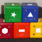 Neurosmith Replacement Blocks Complete Set of 5 Green Blue Yellow Red Orange