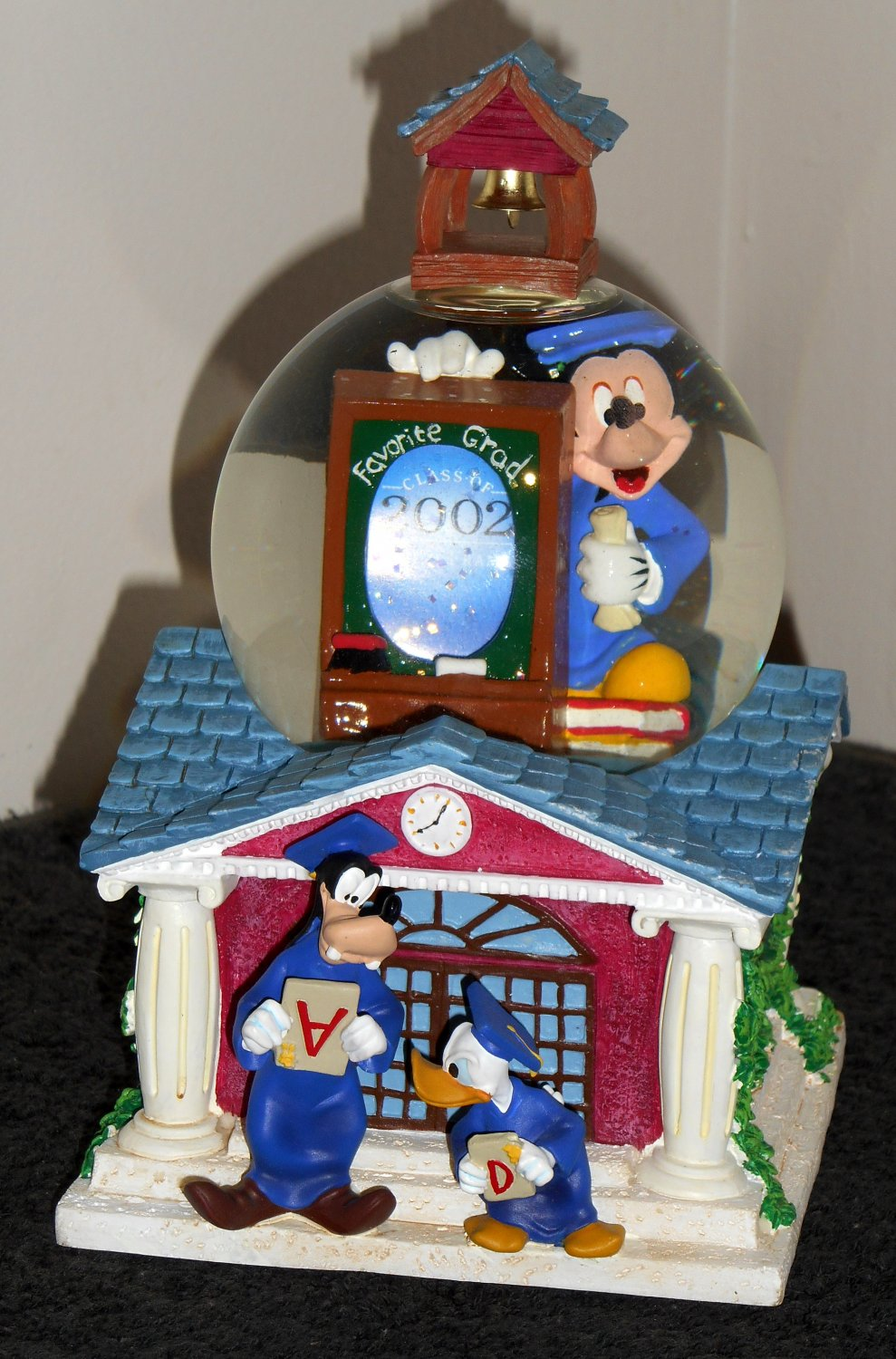 Mickey Mouse Musical Graduation Water Snow Globe Photo Goofy Donald Duck Pomp and Circumstance