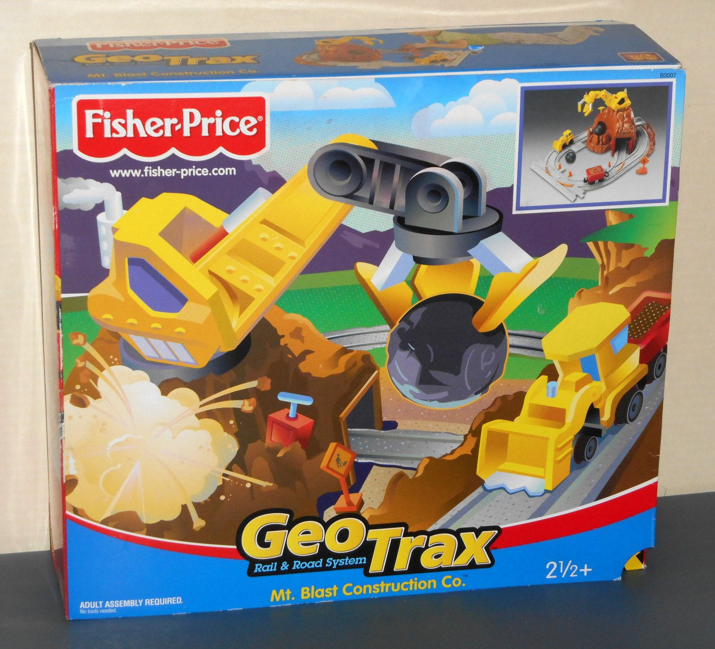 Fisher Price B3007 Geotrax Mt Blast Construction Co Rail
