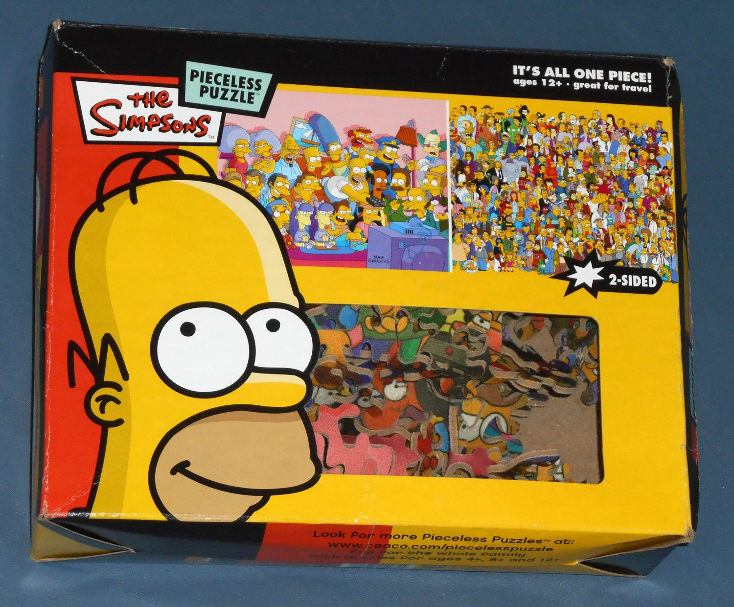 The Simpsons Pieceless Jigsaw Puzzle 2 Sided All One Piece