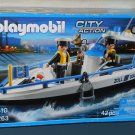 Playmobil City Action Patrol Boat 5263 Geobra Klicky Figures Dog Open Box Sealed Parts Complete