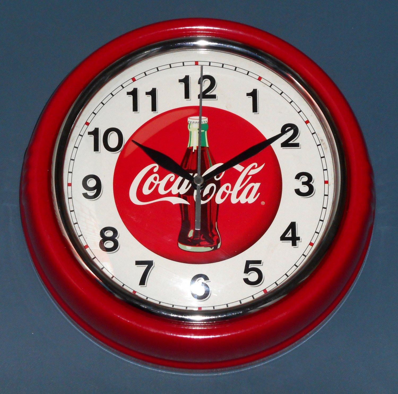 Sold Out Coca Cola Metal Wall Clock Coke 9 189 Inch Diameter