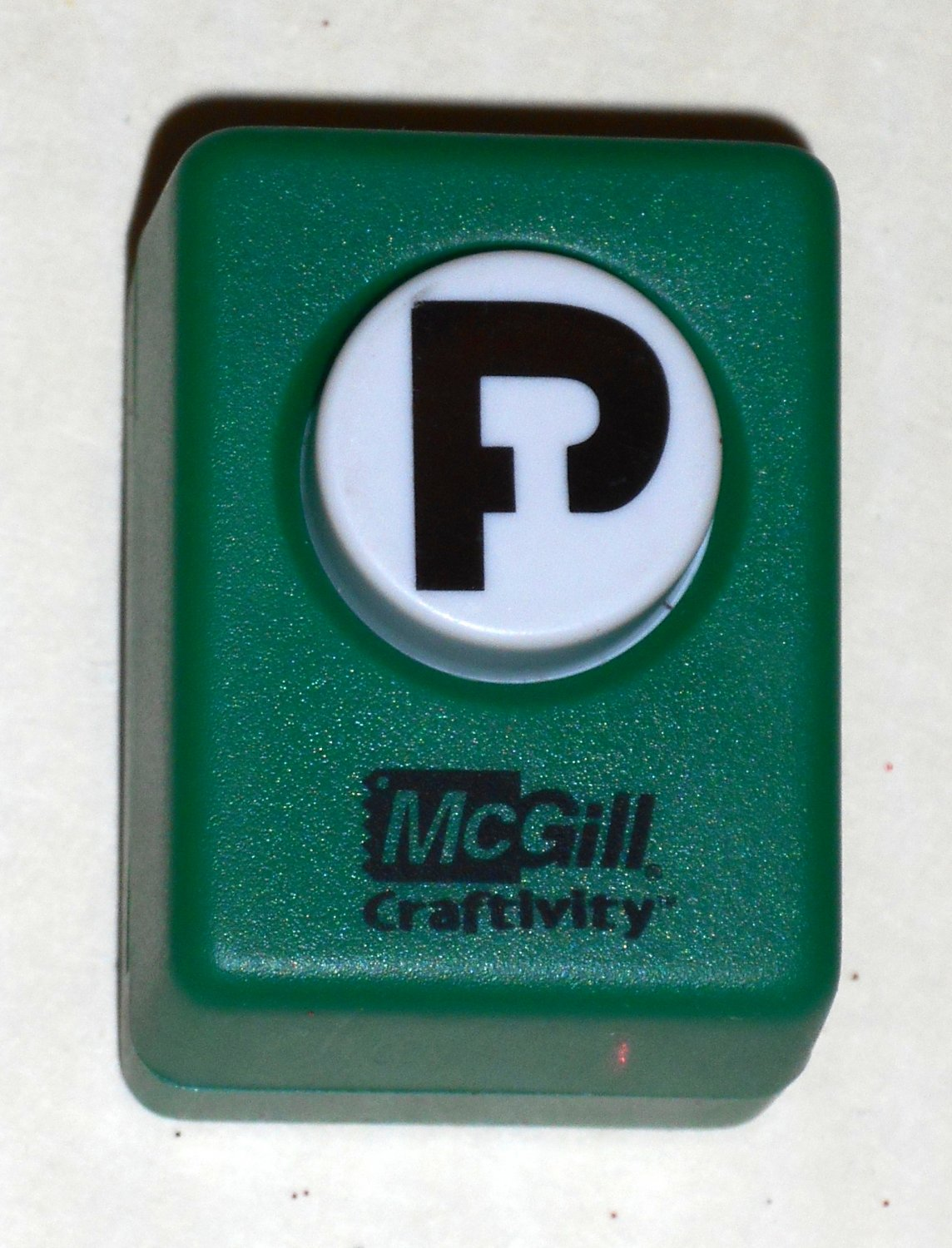 McGill Craftivity Paper Punch Letter P Upper Case Capital Scrapbooking