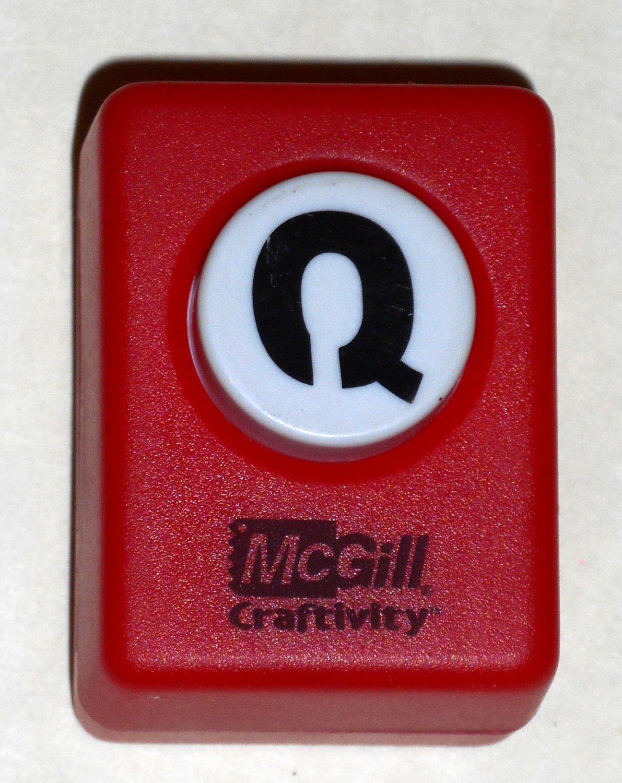 McGill Craftivity Paper Punch Letter Q Upper Case Capital Scrapbooking