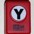 McGill Craftivity Paper Punch Letter Y Upper Case Capital Scrapbooking