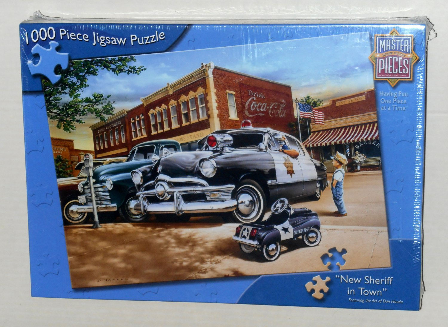 New Sheriff in Town 1000 Piece Jigsaw Puzzle 70209 Coca-Cola Pedal Car Dan Hatala Masterpieces