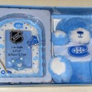 Montreal Canadiens Baby Boy Shower Gift Set Pack Blue Plush Bear Picture Frame Habs Hockey NHL NIB