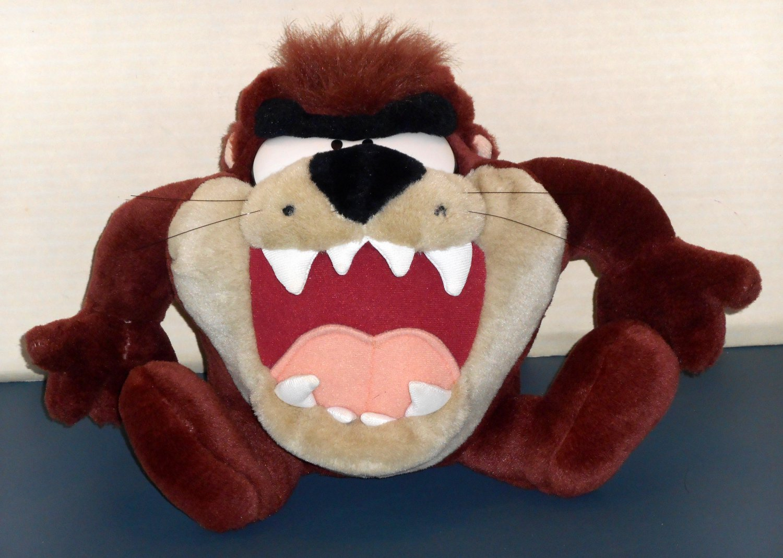 8 Inch Plush Talking Vibrating Taz Play-By-Play Stuffed Doll Toy Tasmanian Devil Looney Tunes 1997