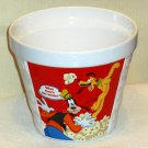 Walt Disney Ceramic Popcorn Bucket Container Mickey Minnie Mouse Donald Daisy Duck Goofy Pluto
