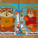 The Shirt Tales 3D Plastic Puzzle Lot TYG Rick Illco Pre-School NIP 1982