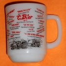 Milk Glass Mug Lot Hazel Atlas Ranger Joe Ranch Fire King Anchor Hocking CB'er CB Radio Jargon White