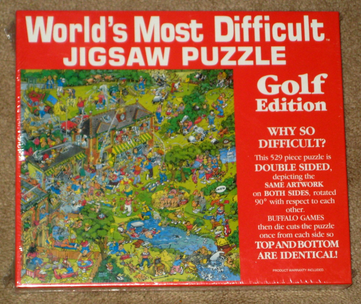 sold out golf edition world s most difficult jigsaw puzzle 529 piece
