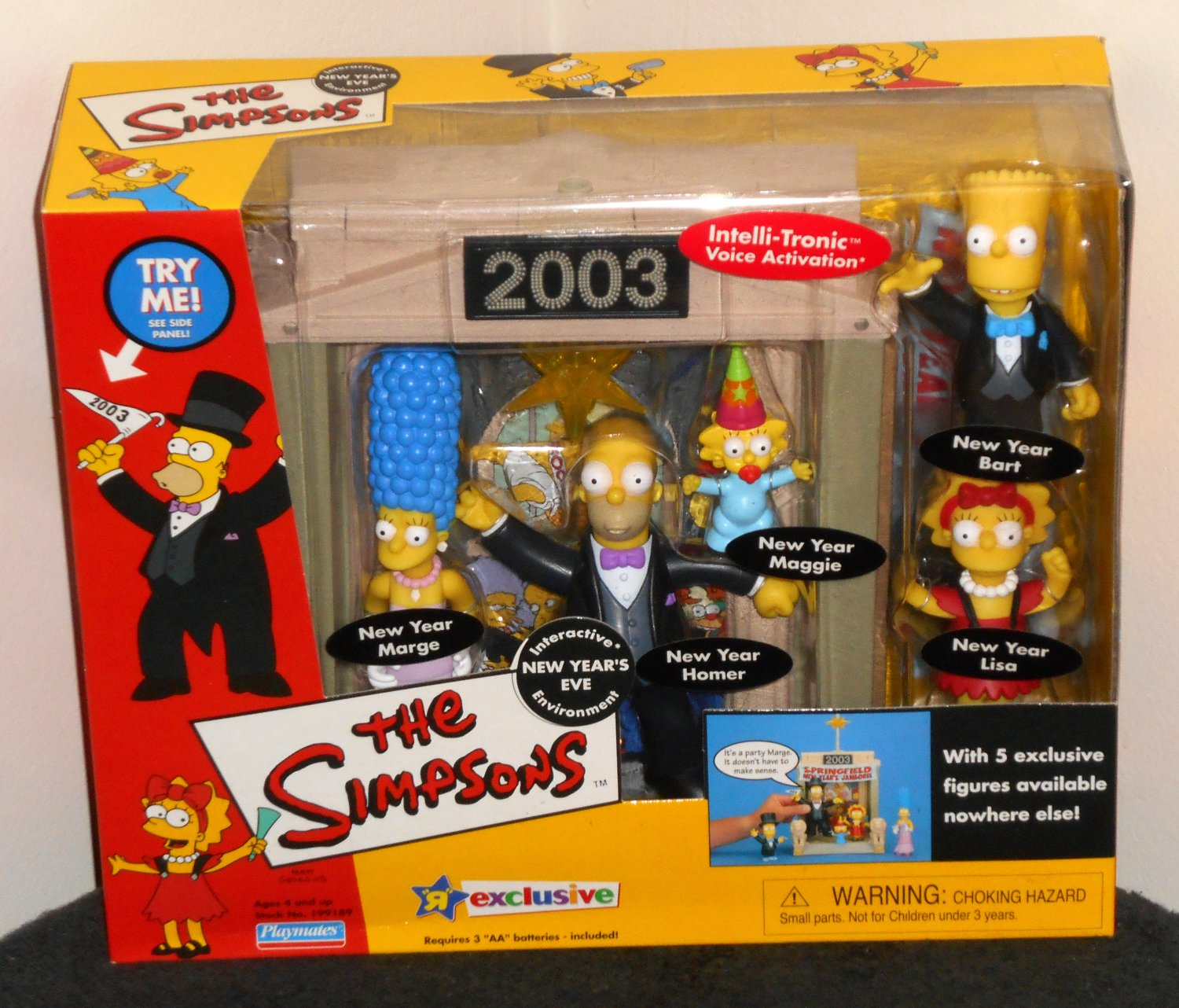 Simpsons WOS New Year's Eve Playset Environment Toys R Us Exclusive Playmates Toys 199189