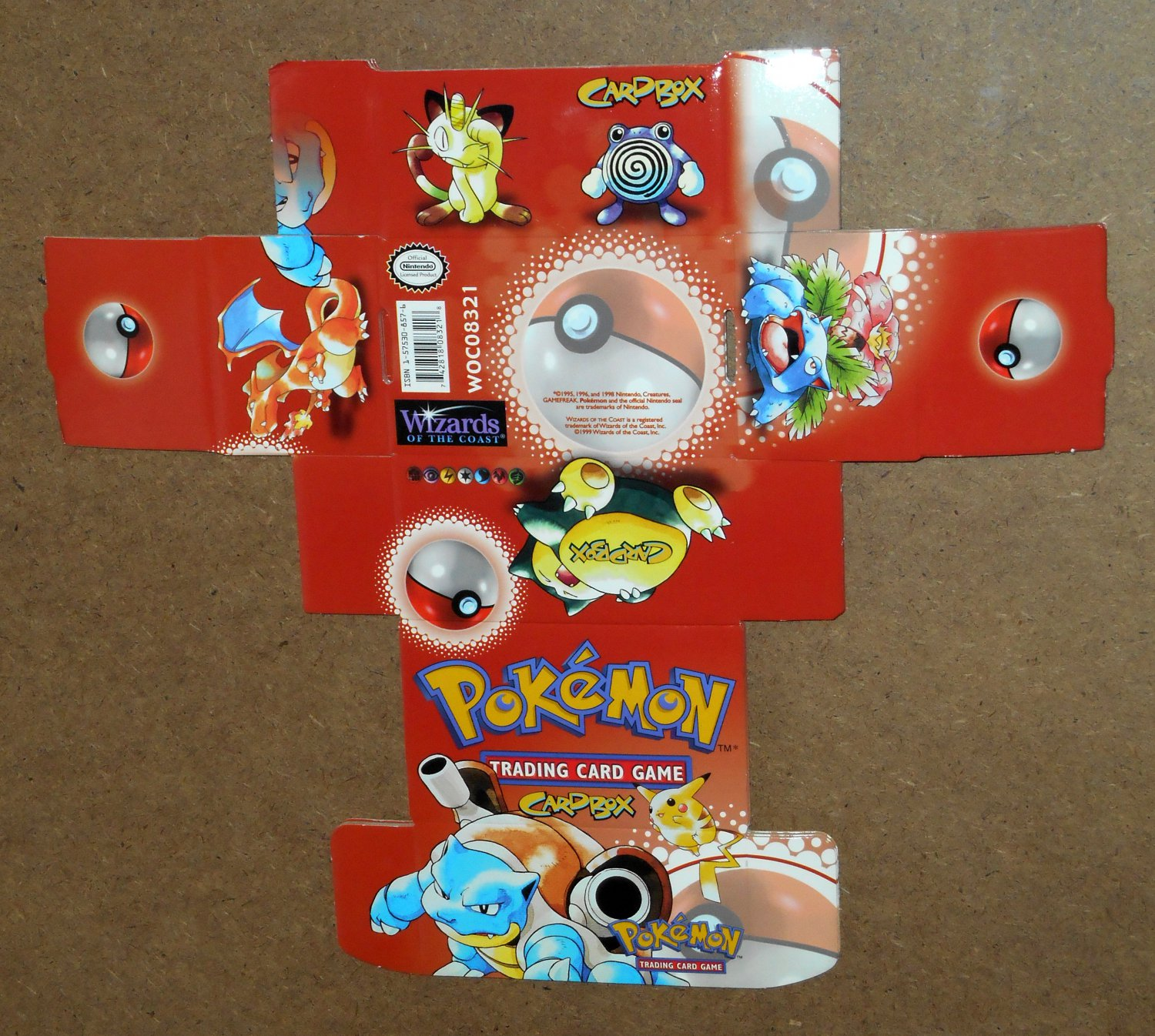 Pokemon Lot Cardbox Card Box Wizards of the Coast Cracker Jack Prize Sticker Tattoos Nintendo