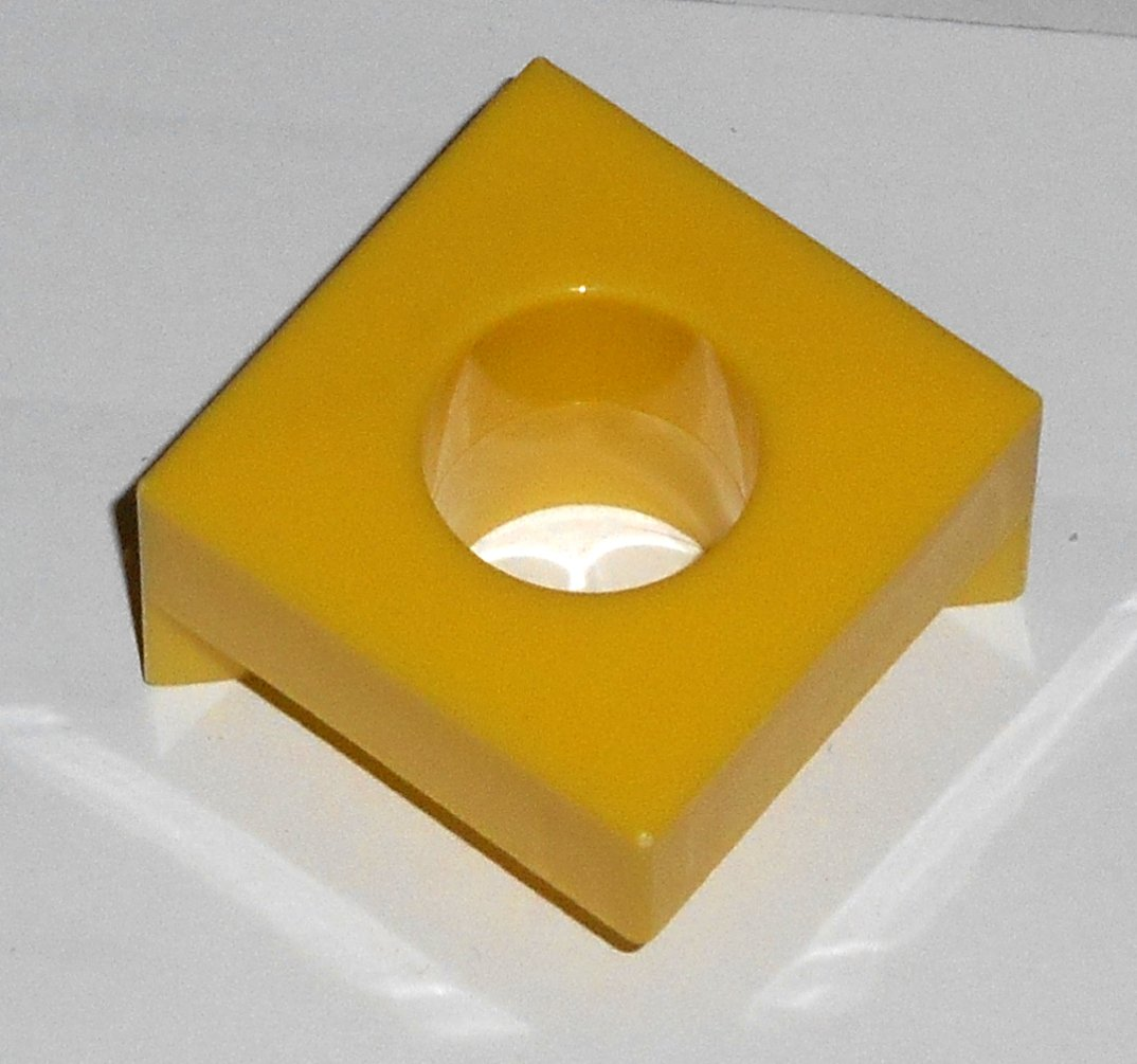 #6Y Vintage 1975 Superfection Game Yellow Replacement Shape Part Block Piece Lakeside 8375
