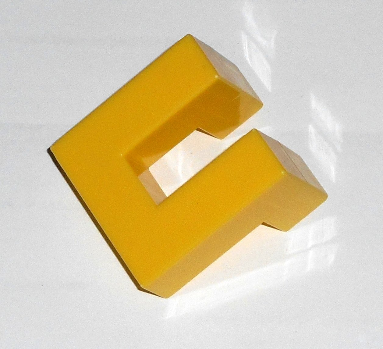 #8Y Vintage 1975 Superfection Game Yellow Replacement Shape Part Block Piece Lakeside 8375
