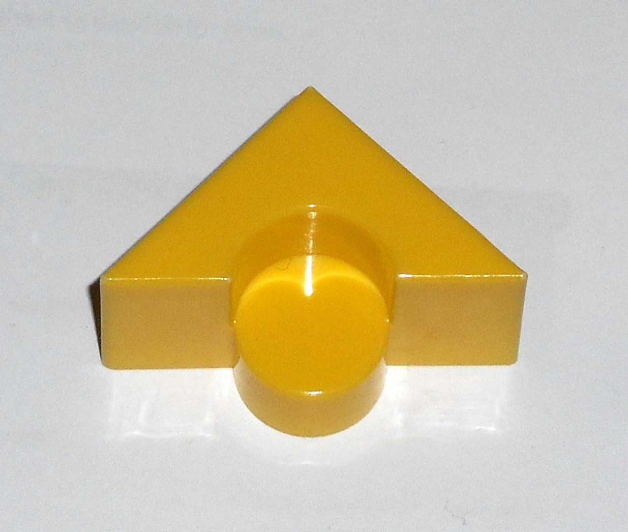 #9Y Vintage 1975 Superfection Game Yellow Replacement Shape Part Block Piece Lakeside 8375