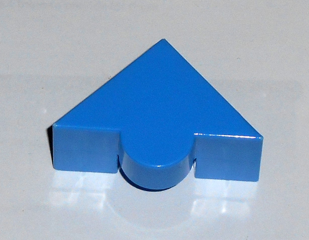 #9B Vintage 1975 Superfection Game Blue Replacement Shape Part Block Piece Lakeside 8375