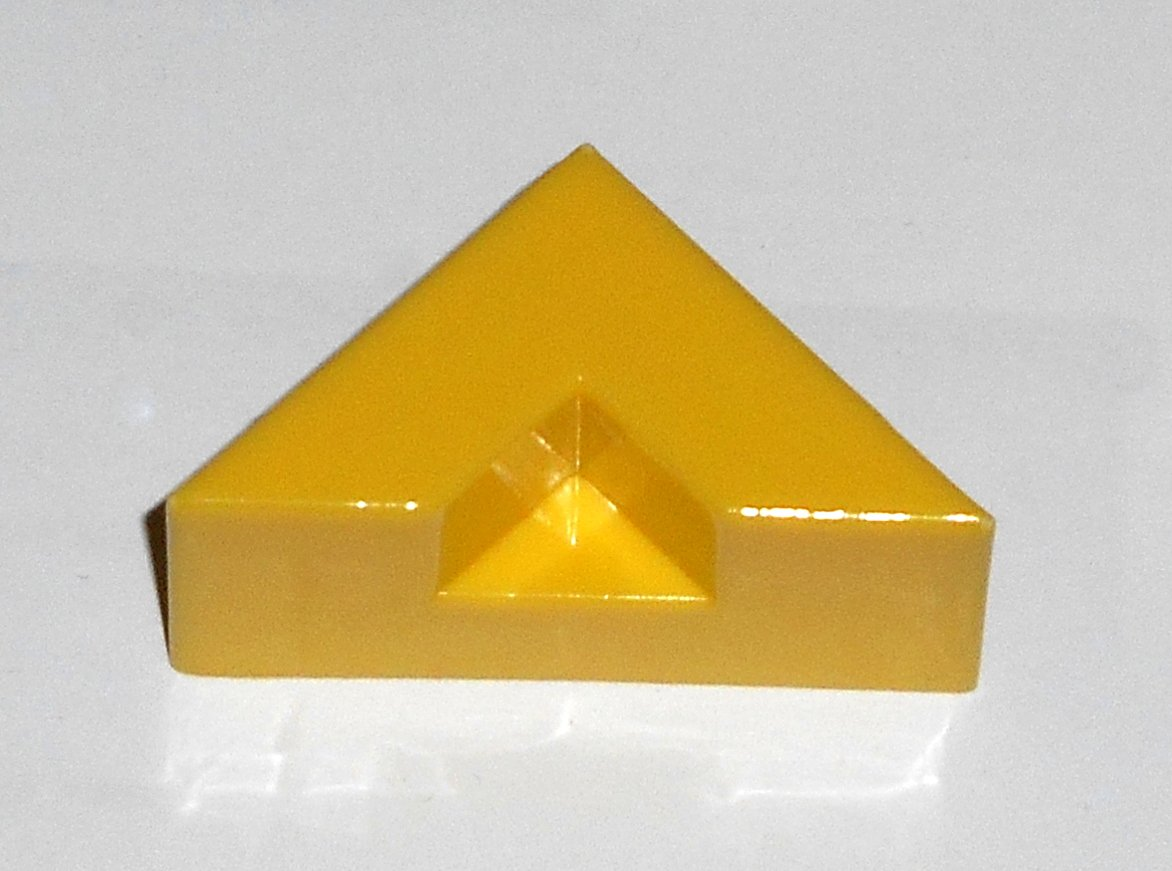 #10Y Vintage 1975 Superfection Game Yellow Replacement Shape Part Block Piece Lakeside 8375