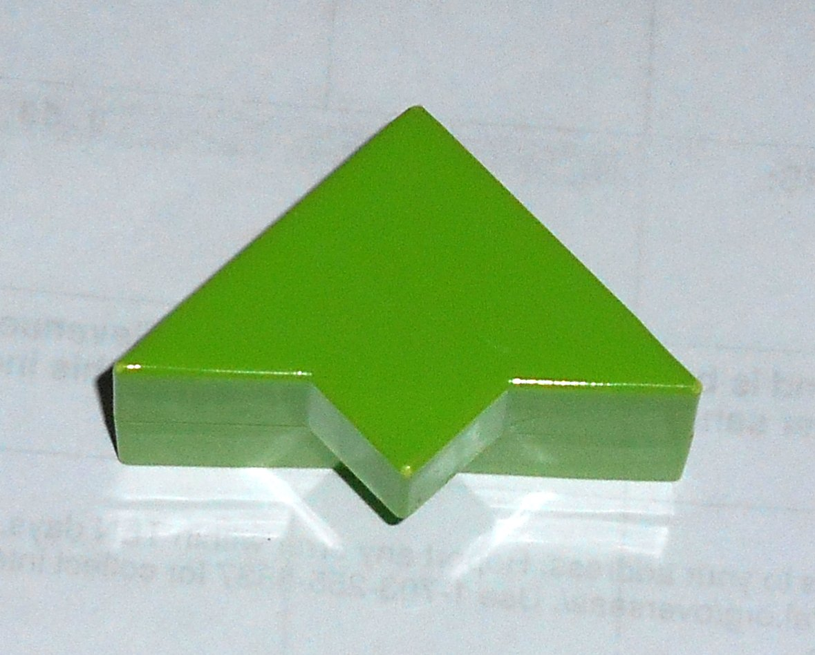 #10G Vintage 1975 Superfection Game Green Replacement Shape Part Block Piece Lakeside 8375
