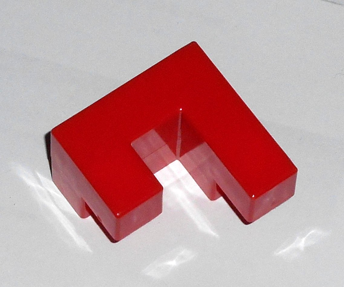 #11R Vintage 1975 Superfection Game Red Replacement Shape Part Block Piece Lakeside 8375