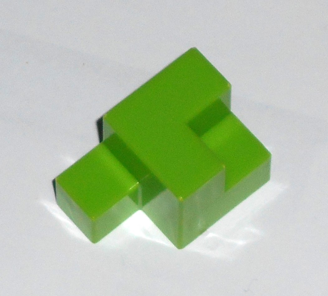 #11G Vintage 1975 Superfection Game Green Replacement Shape Part Block Piece Lakeside 8375
