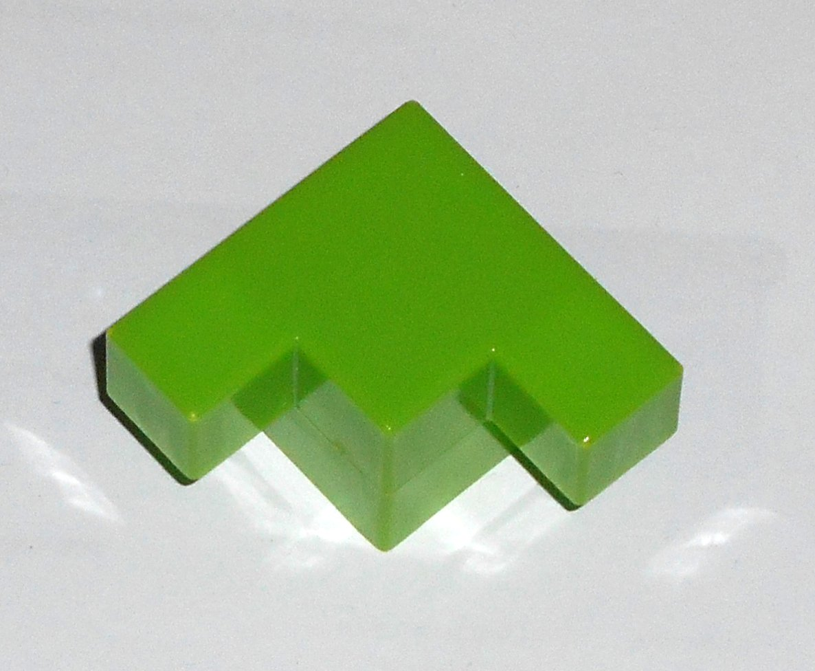 #12G Vintage 1975 Superfection Game Green Replacement Shape Part Block Piece Lakeside 8375