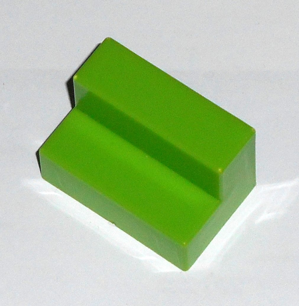 #16G Vintage 1975 Superfection Game Green Replacement Shape Part Block Piece Lakeside 8375