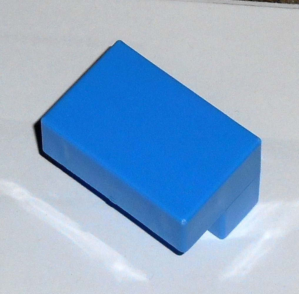 #16B Vintage 1975 Superfection Game Blue Replacement Shape Part Block Piece Lakeside 8375