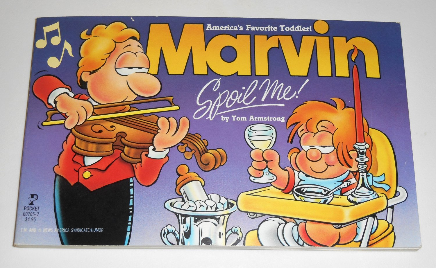 Marvin Spoil Me Book Comic Strip Baby Paperback Soft Cover Tom Armstrong