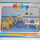 Baby's Bedroom Timiny Berchet 660002 Doll Furniture La Chambre de Bebe The 3 Little Ones Family 1992