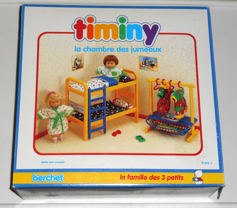 Chambre Jumeaux: Twin's Bedroom Timiny Berchet 660001 Doll Furniture La